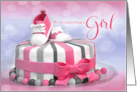We're Expecting a Baby and It's a Girl in Pink Polka Dots card