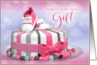 Baby Shower Thank You Card in Pink Polka Dots card