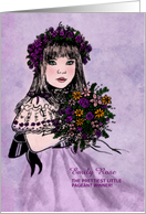Girl's Beauty Pageant Congratulations Purple Vintage card