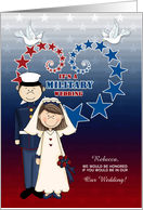 Will You Be in Our Military Wedding Stars and Stripes card