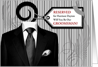 Will You Be My Groomsman Custom Wedding Attendant card