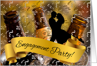 Engagement Party Bucket of Beer Theme card