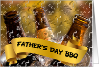 Father's Day BBQ Invitation Bucket of Beer Theme card