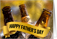 Father's Day Football and Beer Theme card