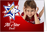 All Star Baseball Theme for Father's Day with Photo card