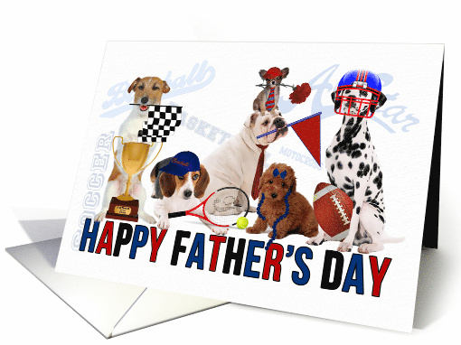 Sports Themed Dogs for Father's Day card (1045907)