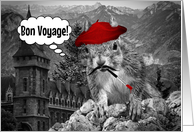 Bon Voyage! Funny French Painter Squirrel card