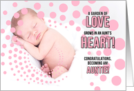 Becoming an Aunt Congratulations on the Birth of a Niece Pink card
