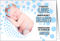 for a New Aunt Birth of Her Nephew Blue Congratulations card