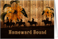I'm Coming Home! Western Sunflowers with Cowgirls & Cowboys card