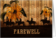 Going Away Party Invitation Western Sunflowers and Horses card