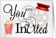 Movie Night Themed Bachelorette Party Invitation card