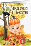 for Goddaughter's 1st Thanksgiving Pumpkin and Teddy Bear card