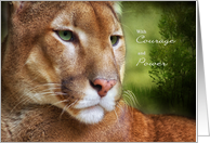 Encouragement Mountain Lion Courage and Power card