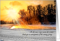 Winter Solstice Sun on Winter Landscape card