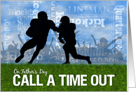 Father's Day Football Theme Players on the Field card