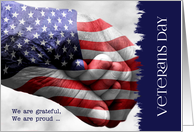 Veterans Day Generations Red, White and Blue card
