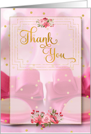 Bridal Thank You Pink and White Cheetah Print card