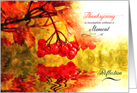 Thanksgiving Reflections with Maple Leaves and Berries card