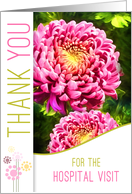 Hospital Visit Thank You Pink Dahlia Garden Painting card