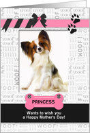 from the Dog Fun Mother's Day Pink and Black with Pet's Photo card