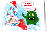 Kids Monster Christmas Playful for Young Children Custom Relation card