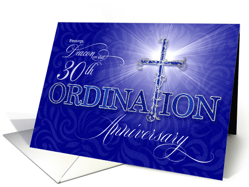 for Deacon 30th Ordination Anniversary Blue and Silver... (1553396)