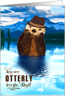 Thank You for Dad You are Otterly Terrific Woodland Wildlife card