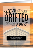 Divorce Announcement We've Drifted Apart Nautical Theme card