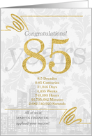 85 Years in Business Gold and Silver Custom NO REAL GLITTER card