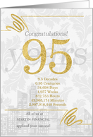 95 Years in Business Gold and Silver Custom NO REAL GLITTER card