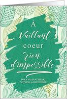 French Graduation Nothing is Impossible Typography Green Botanical card