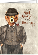 for Great Grandpa's Birthday Hipster Bear in a Suit Watercolor card
