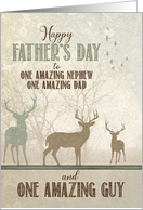 for an AMAZING Nephew Father's Day Deer in the Forest card