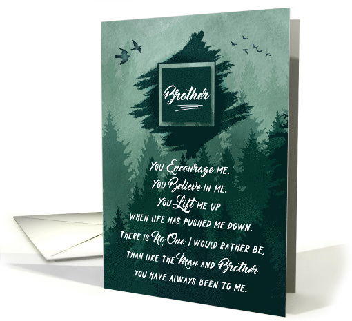 for Brother's Birthday Forest Green Woodland Theme card (1625708)