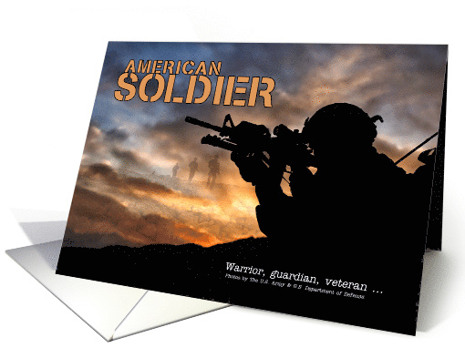 American Soldier Army Veteran Thinking of You card (1626736)