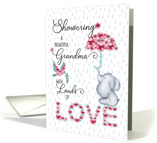for Grandma on Mother's Day Showering You with Love Spring card