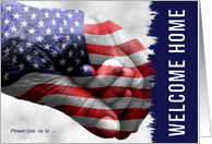 Welcome Your Soldier Home and Invite Family and Friends card