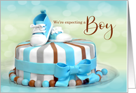 We're Expecting a Baby and It's a Boy! card