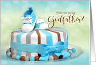 Will you be my Godfather? Blue Polka Dots card