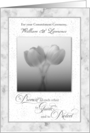 A Promise Commitment Ceremony Congratulations Silver Tulips card