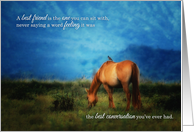 Best Friend Birthday with Horse and Bird in Kauai card