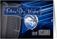 for Husband on Father's Day Classic Car in Blue card