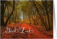 Good Luck and Farewell Path in the Woods card