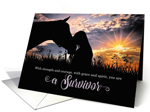 Fibromyalgia Feel Better Horse and Fog with Oak Tree card (469737)