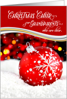 for Grandparents Christmas Cheer Red Snowflake Ornament card
