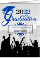 Class of 2017 Graduation Party Invitation in Blue card