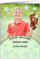 Adoption Announcement Older Boy Photo card