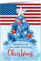 for Armed Forces Christmas Stars and Stripes card