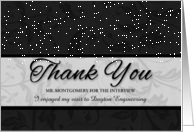 Custom Business Thank You for the Interview Black and Silver card